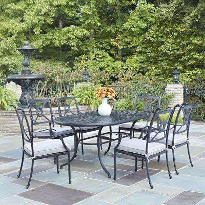 athens charcoal 7 piece all weather cast aluminum patio dining set rh pinterest com