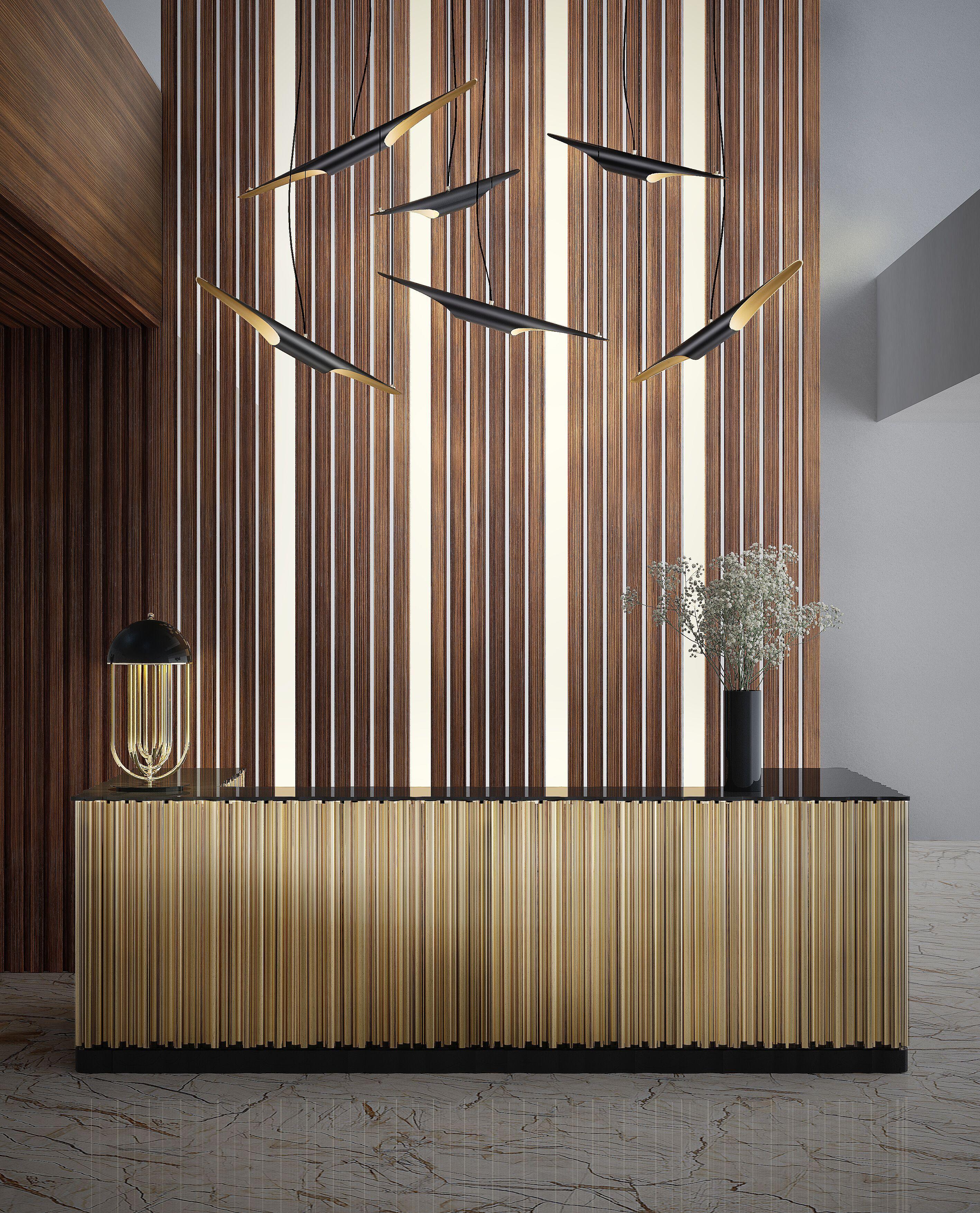 hotel lobby | symphony sideboard@bocadolobo, turner table