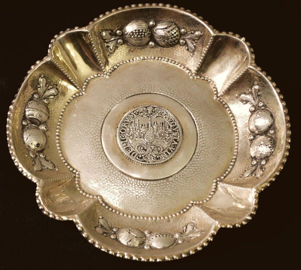 alte 800er Silberschale Schmedding Augsburg   MÜNZ-SILBER ...