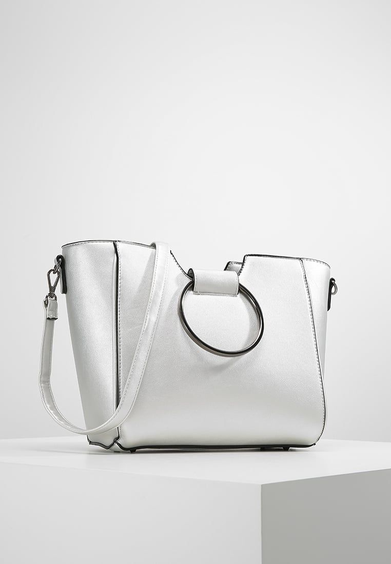 New Look Metal Handle Handbag Silber Zalando Co Uk