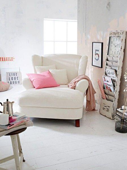 Drei Leseecken für kleines Geld Reading nooks - gemütliches sofa wohnzimmer