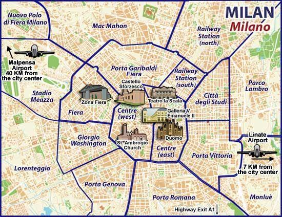 Milan Zone Map