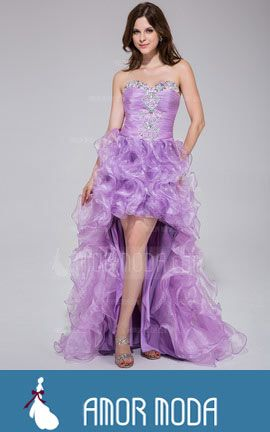 Prom Dress With Beading Cascading Ruffles  at an affordable price of $191.99 #PromDresses