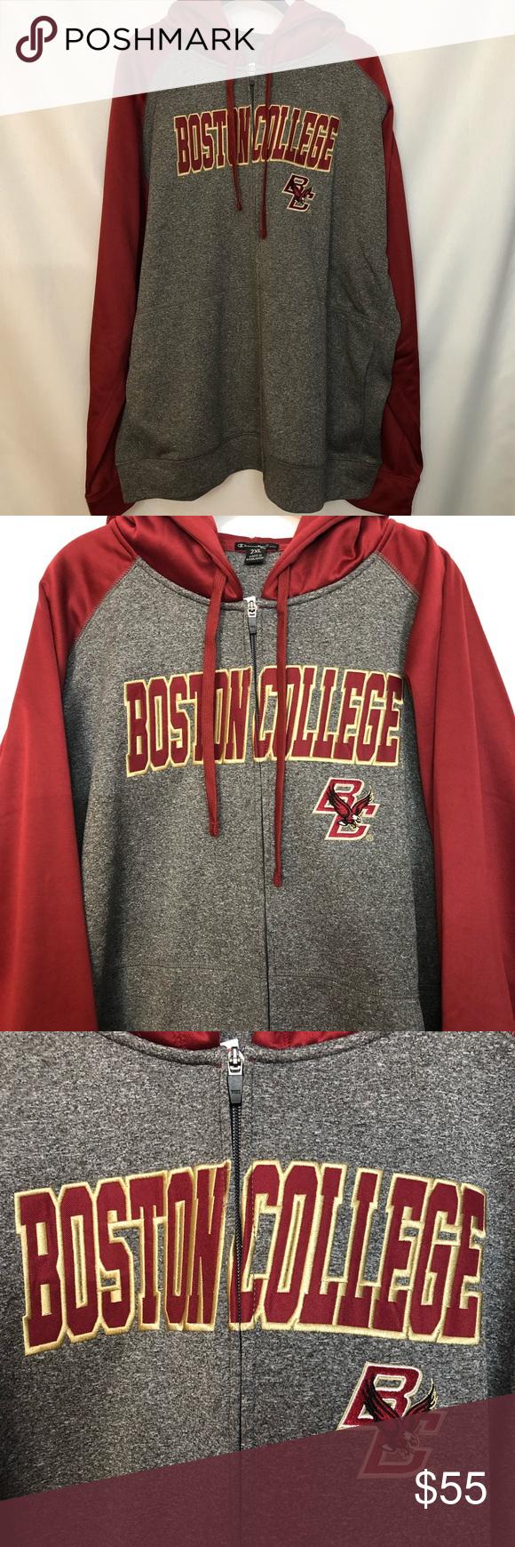 Boston College Bc Eagles Champion Mens Zip Hoodie Mens Zip Hoodie Zip Hoodie Red Sweatshirt Men [ 1740 x 580 Pixel ]