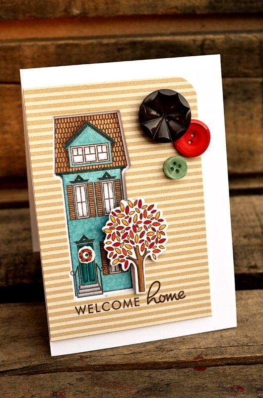 Welcome Home Card by Jess Witty for Papertrey Ink (September 2012)