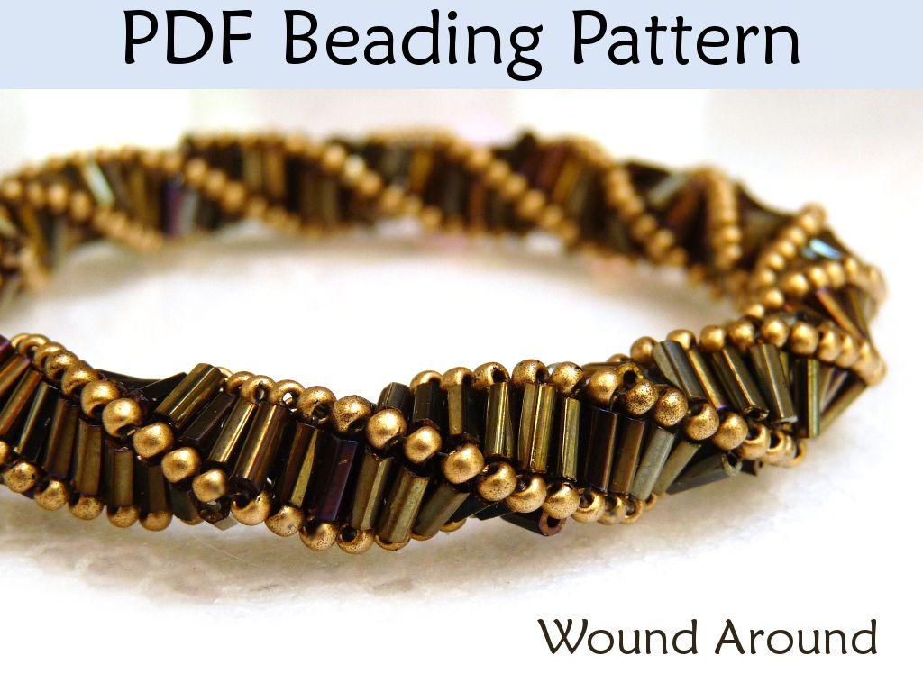 """New """"Wound Around"""" Triple Helix Stitch PDF Beading Pattern!"""