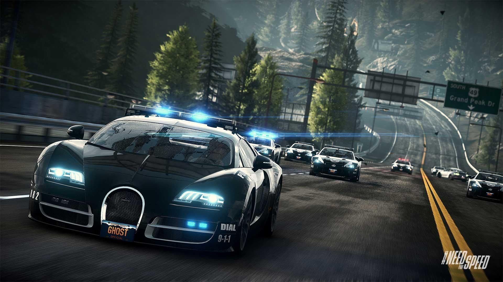Need Speed Rivals Bugatti Cop Car Gaming Desktop Wallpapers Need