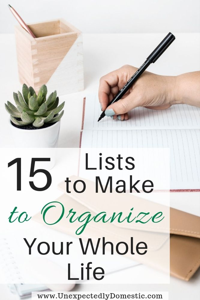 How to Organize Your Life With a Notebook: 15 Lists to ...