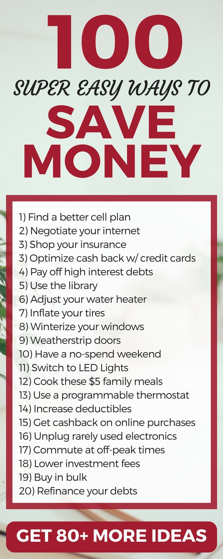 100 Insanely Smart Ways To Save Money In 2018