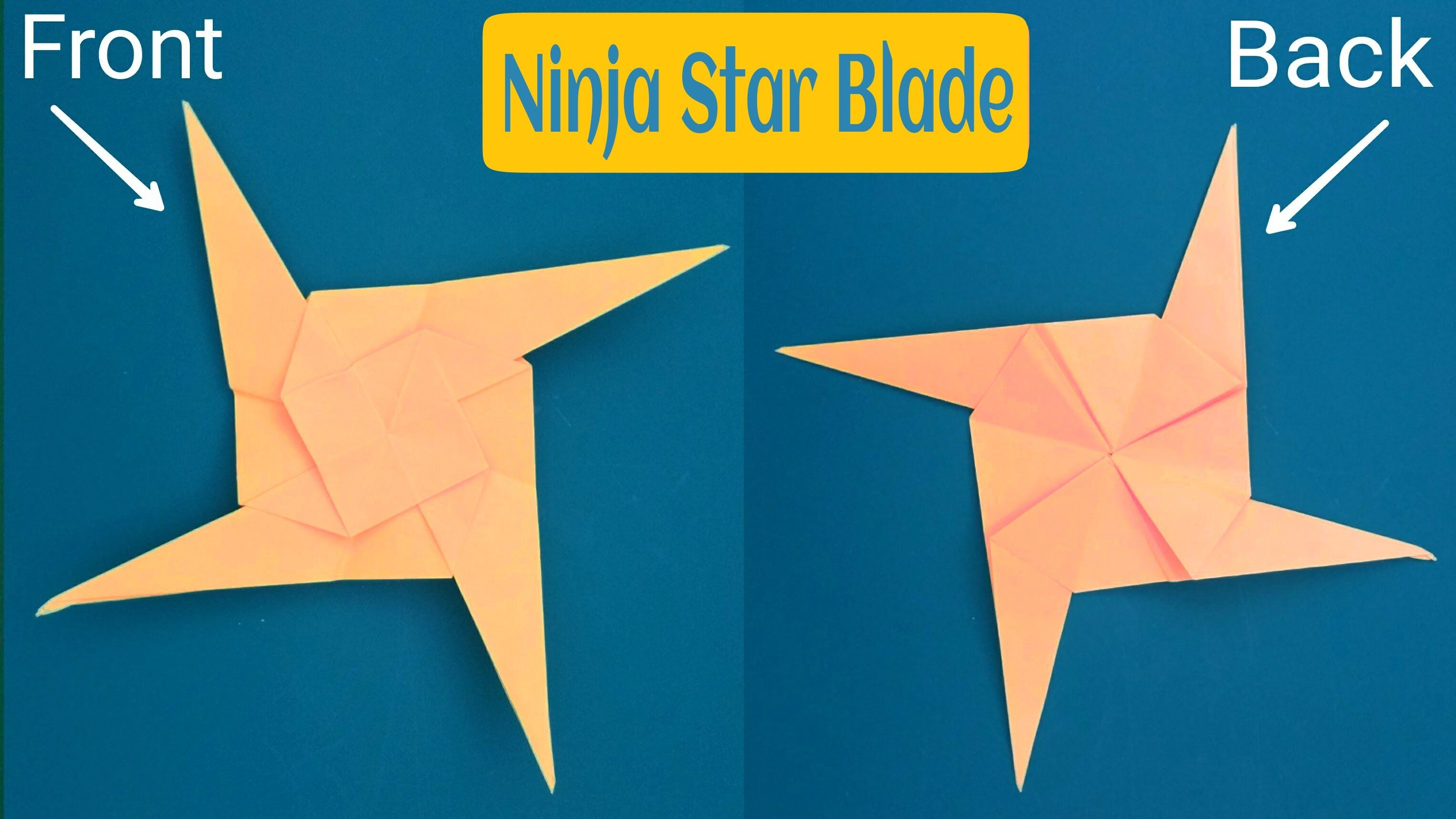 Origami Ninja Star Tutorial | 1717x3052