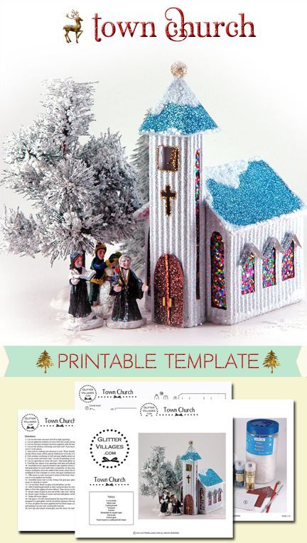 Crazy image throughout printable christmas village template