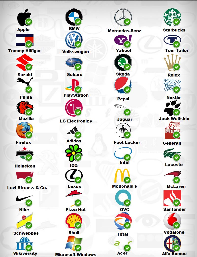 Online Logo Designer Logo quiz, Logo quiz answers