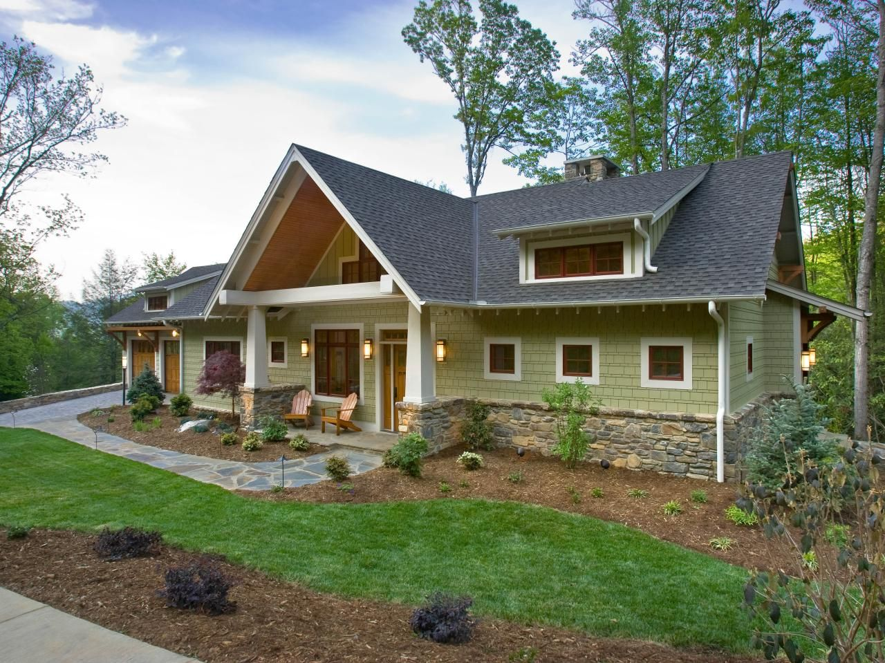 Exterior home colors green - Often Referred To As A Bungalow Style Home Craftsman Designs And Layouts Typically Make