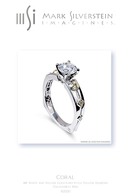 18K white gold diamond engagement ring designed by Mark Silverstein Imagines