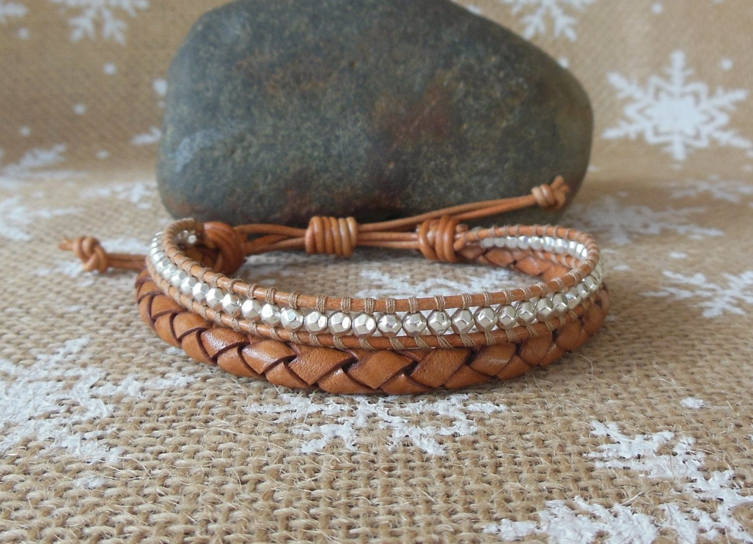 pin kind leather woven masculine copper a bracelet s and of men adjustable one unique