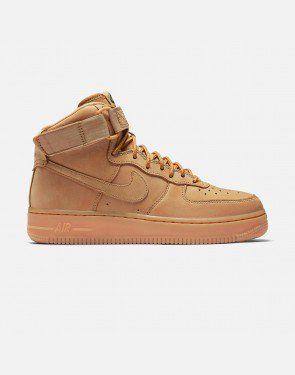 free shipping 5525f 8c1fb Nike Air Force 1 HI Premium (Flax Flax-Outdoor Green)   VILLA
