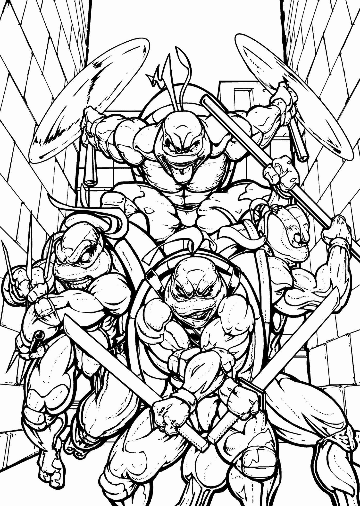 Teenage Mutant Ninja Turtles Coloring Page Lovely 39 Printable Teenage Mutant Ninja Turt Dibujos Animados Para Dibujar Batman Para Colorear Sonic Para Colorear