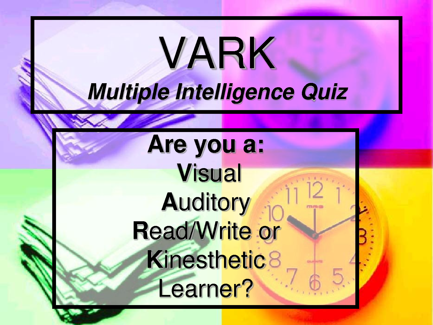 photograph relating to Learning Styles Test Printable identified as several intelligences studying versions quiz Several