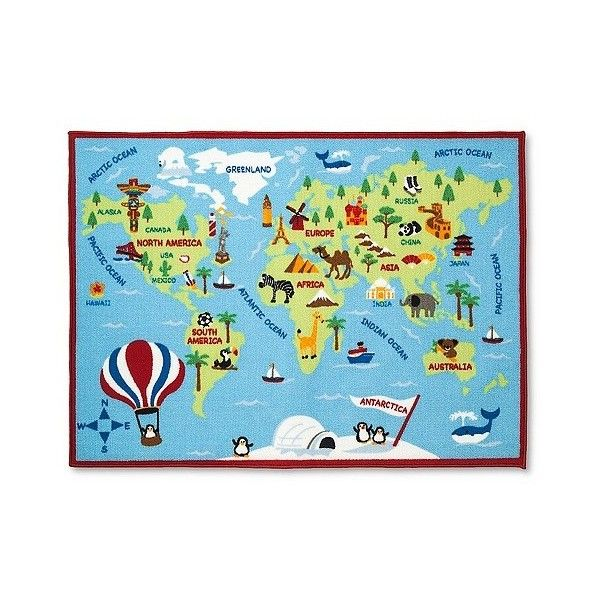 Circo activity world map area rug x54 100 pln liked on for the playroom circo activity world map area rug gumiabroncs Image collections
