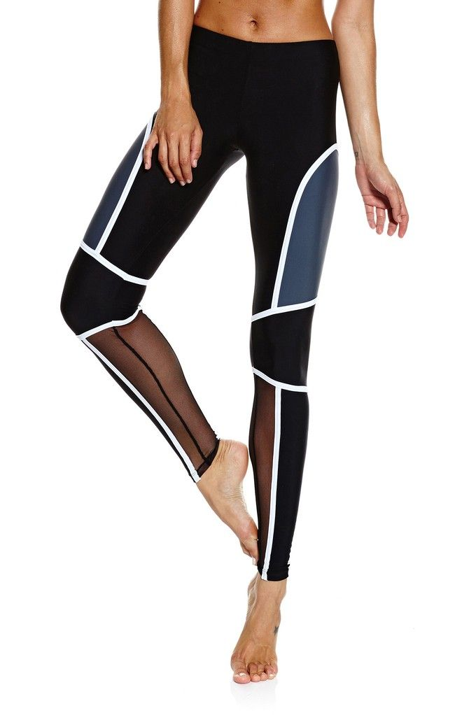 Parna Pant - Black / White / Black Mesh | Activewear | Pinterest | Black  mesh, Workout and Black