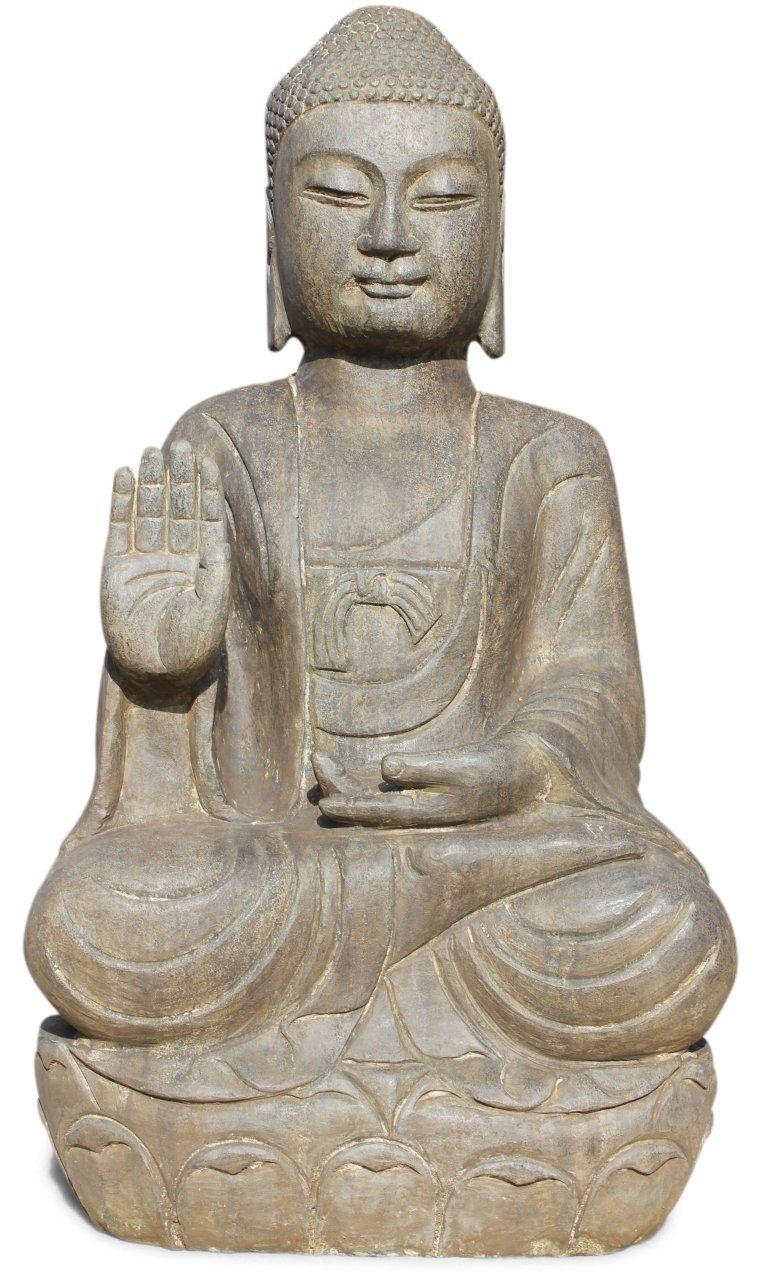 81 cm große Stein Buddha Figur aus dem Land des Lächelns ...