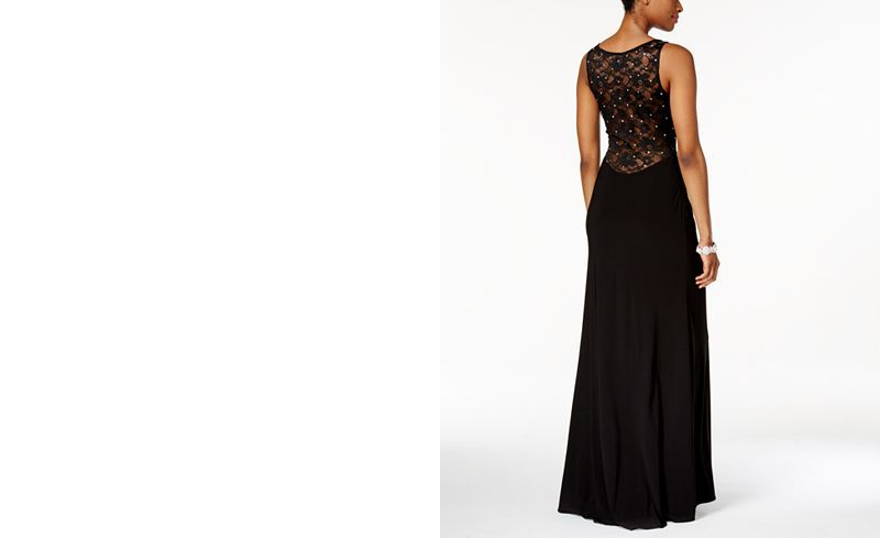 41defbe7220a X by Xscape Rhinestone Illusion Lace Gown - Dresses - Women - Macy s ...