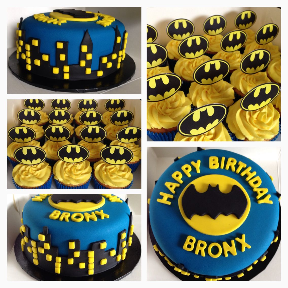 Batman Cake And Cupcakes With Images Batman Birthday Cakes