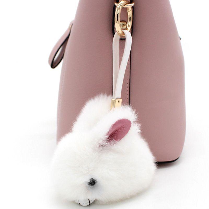 Cute Mini Pompo Bunny Keychain Trinket Pom Pom Rabbit Fur Key Chain Car  Women Bag Key Ring Chaveiro Jewelry Toys New Year Gifts-in Key Chains from  Jewelry ... e4be577acb046