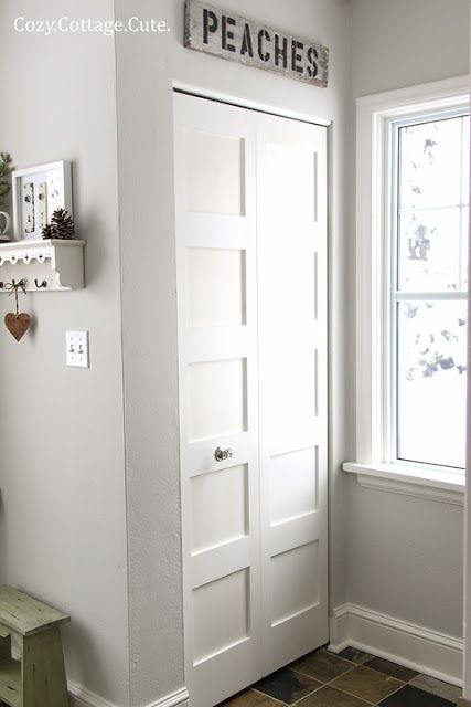 Interior Doors | White Bifold 5 Panel Closet Door | Bayer Built Woodworks