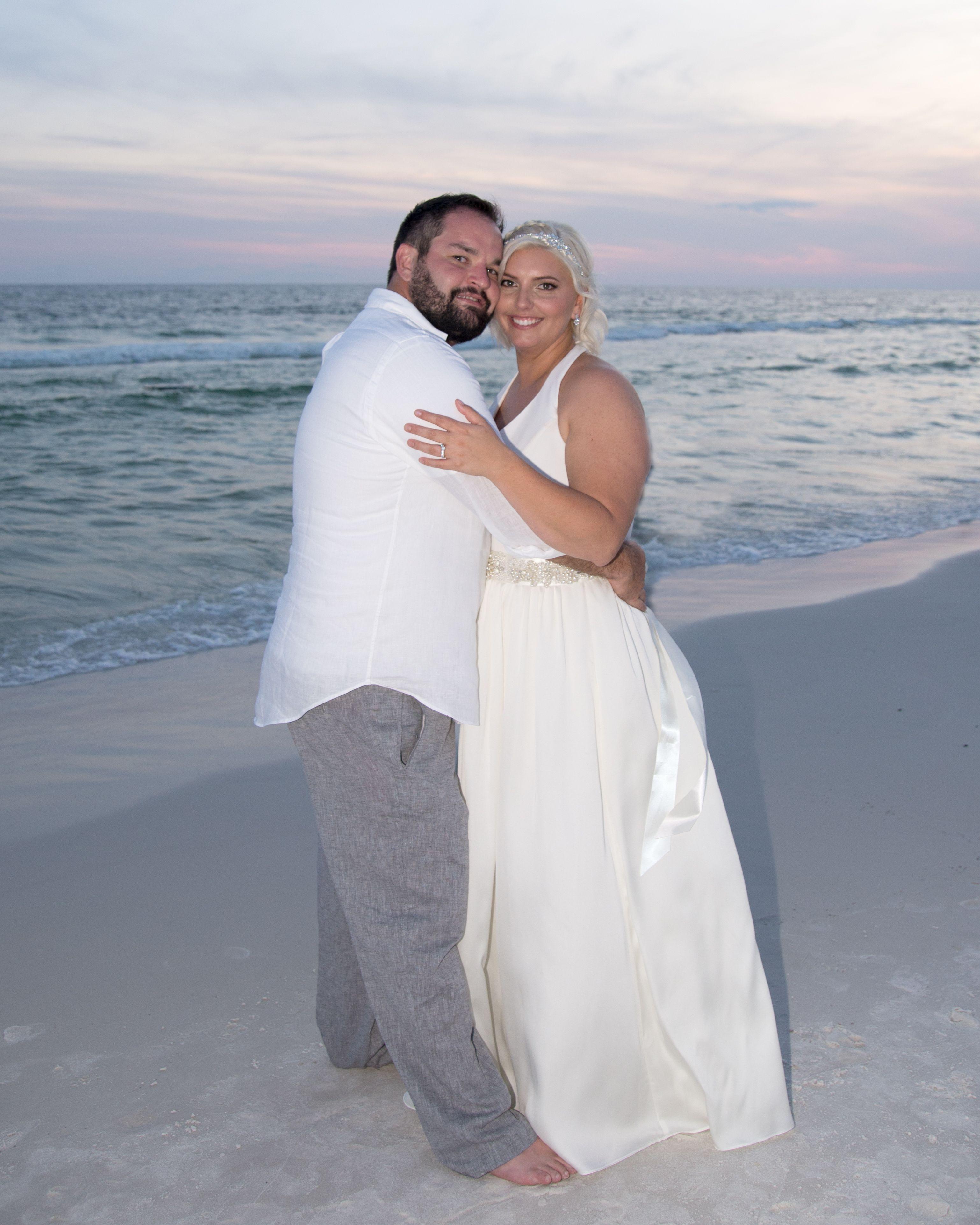 Beach wedding looks for bride  So sweet    DestinFL Beach Wedding Florida BeachWedding