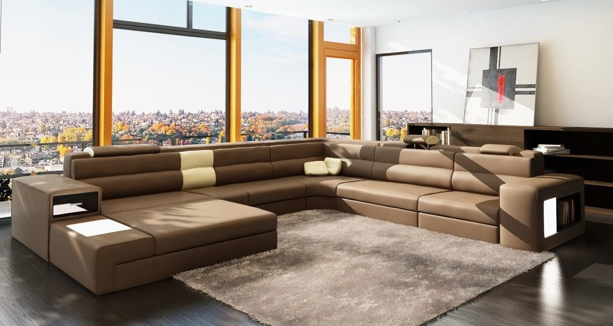 Furniture Accessories U Shaped Brown Modern Leather Sectional Sofa Modern Itali Italian Leather Sofa Italian Leather Sectional Sofa Contemporary Leather Sofa