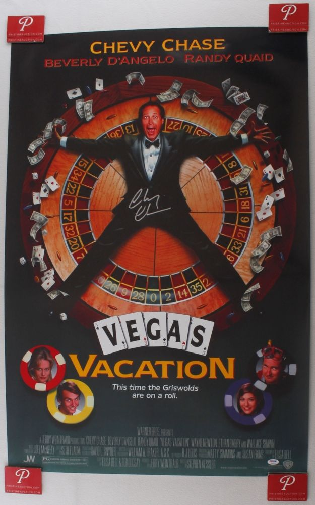 Chevy Chase Randy Quaid Signed Vegas