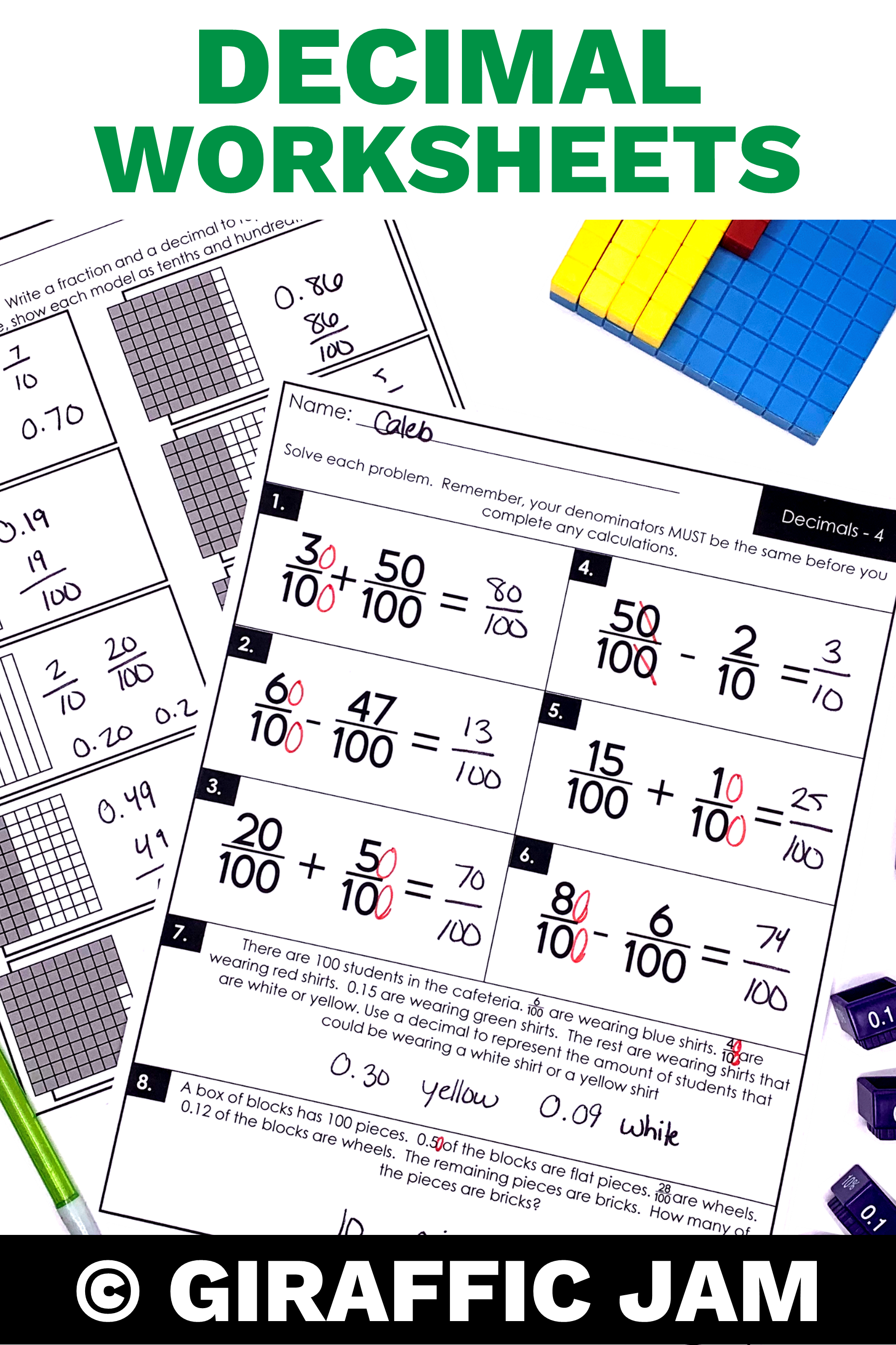 4th Grade fractions   Decimals   Fraction worksheets   4th Grade Math  Worksheets   Fraction H…   Fractions elementary [ 2700 x 1800 Pixel ]