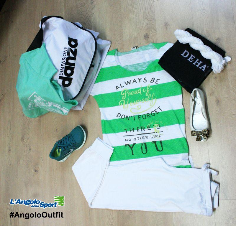 Novità T-shirt/Panta/Borsa #DimensioneDanza Telo/Sciarpa #Deha Ballerine #LollyLI Scarpe #Nike Free 5.0 #AngoloOutfit by Miriam Luddeni www.facebook.com/angolodellosport