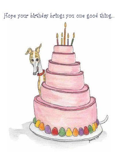 Birthdaycards Happy Birthday Dog Happy Birthday Drawings Birthday Cake Illustration