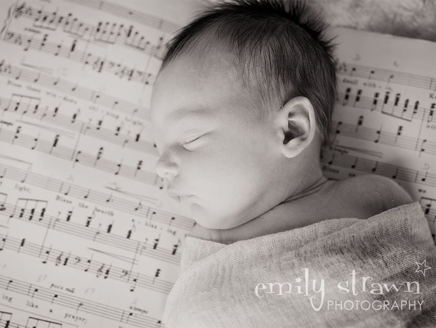 Newborn Photography Sheet Music Bless This House Emily