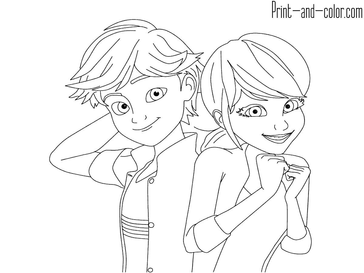 Brilliant Photo Of Ladybug And Cat Noir Coloring Pages Ladybug