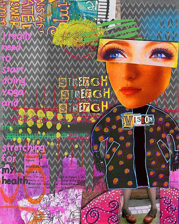 art journal page by julie ann shahin | Art, Art journal ...