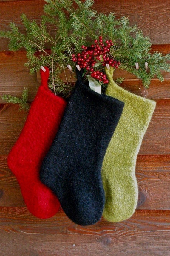 Felted Christmas Stocking Instant Download Knitting Pattern ...