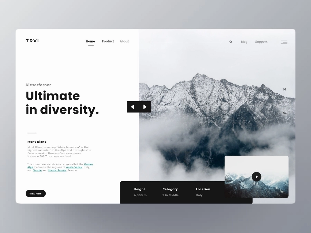 Trvl Landing Page Web Design Web Layout Design Web Design Tips