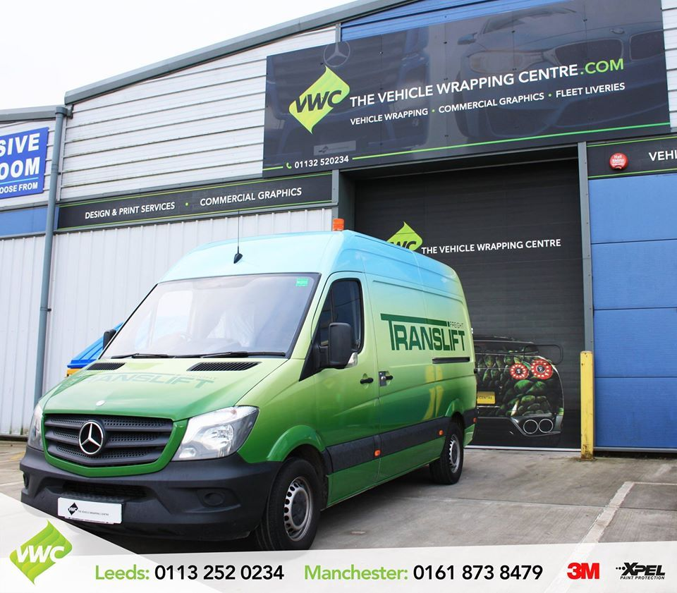 A Smart Mercedes Sprinter Van Branded With The Translift Livery As A Full Digitally Printed Wrap This Is Our First Van Wrap F Mercedes Van Car Wrap Vinyl Wrap