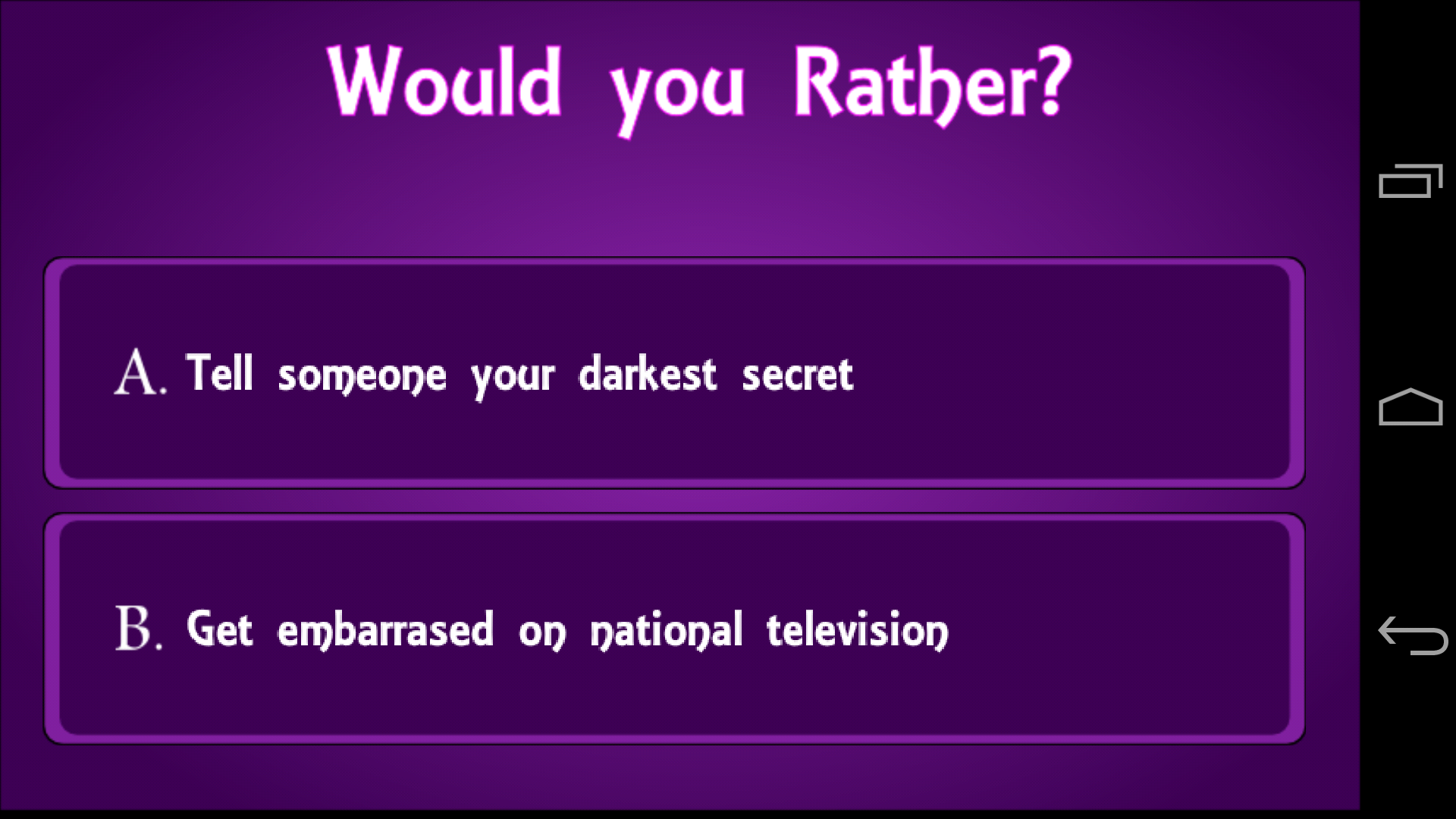 Would you rather questions naughty