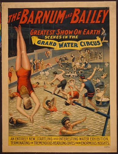 The Barnum Bailey Greatest Show On Earth Grand Water Circus Vintage Circus Poster Carteles Del Circo De época Circo De época Circo Viejo