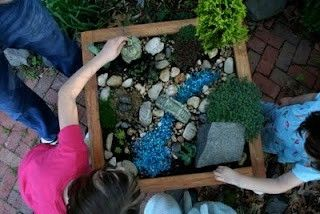 Mini garden playscapes...could have several of these with different themes...
