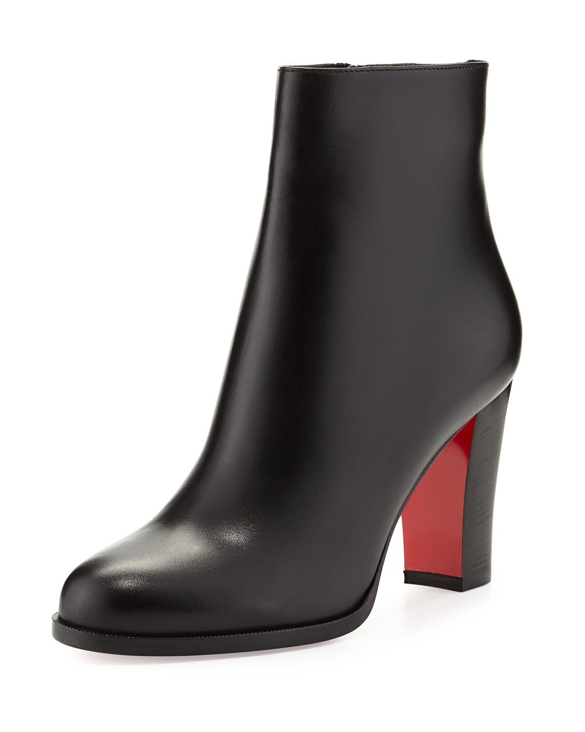 ac647fc666a2 Christian Louboutin Adox Leather 85mm Red Sole Ankle Boot