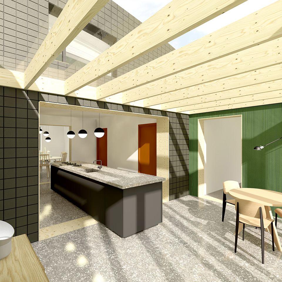 Tuinkamer #renovatie #glas #hout #plywood #modern #belgië #tuin ...