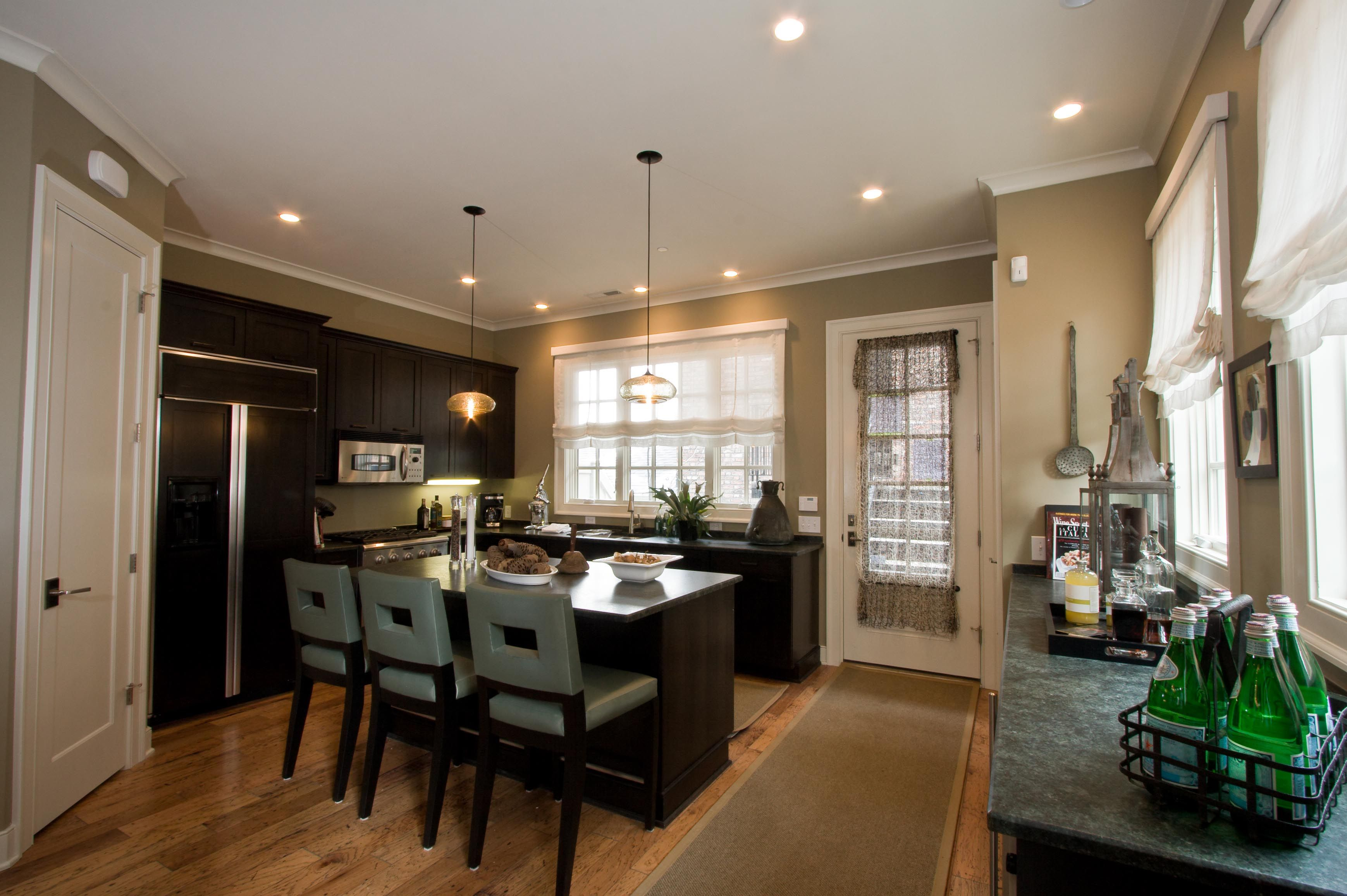 A shot of the kitchen in the model at Neighborhood Launch