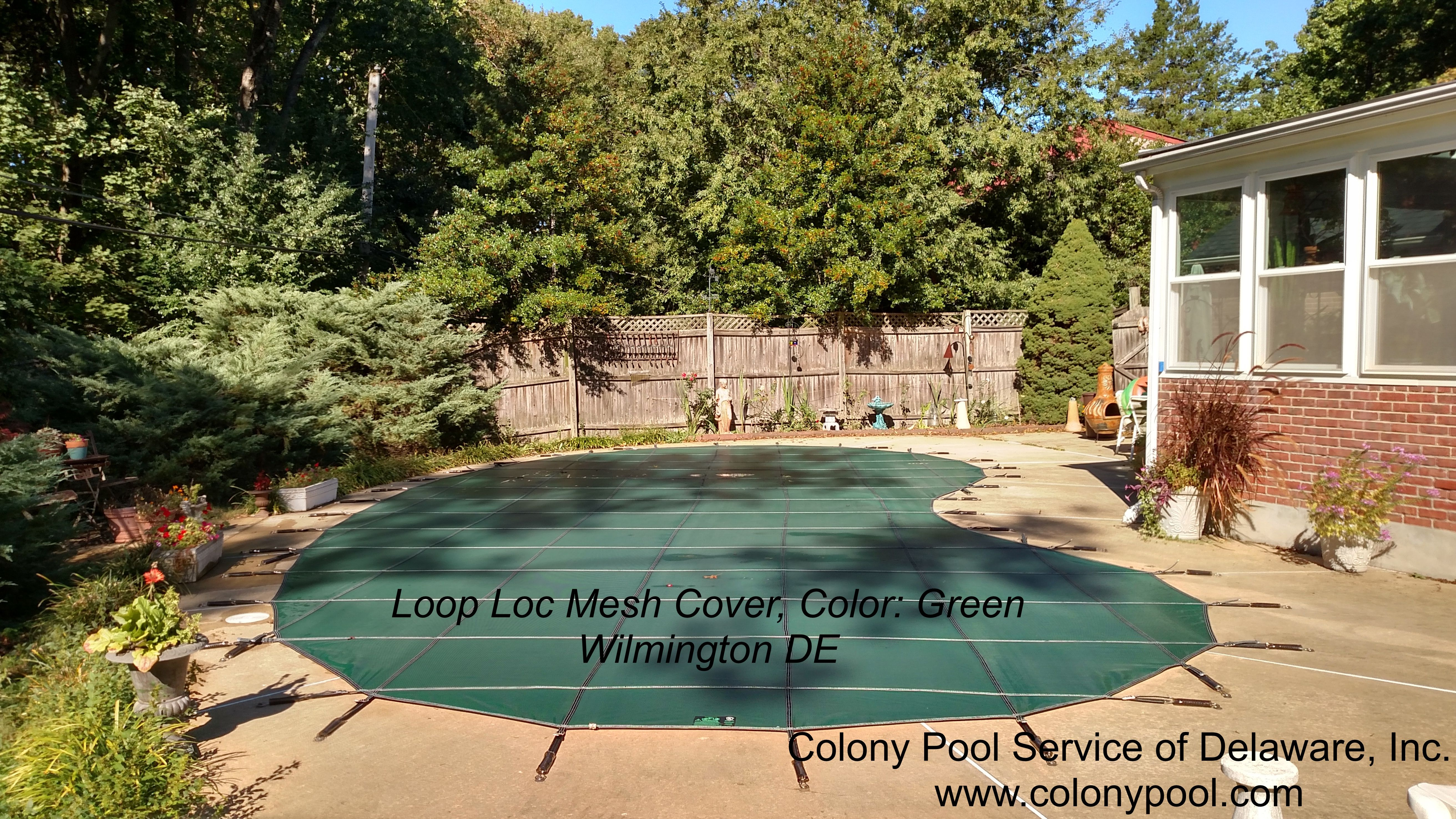 Colony Pool Service Installs A Mesh Loop Loc Safety Pool Cover In Green Location Wilmington Delaware Pool Pool Cover Custom Pools
