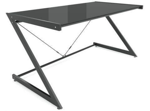 biurko dd z line main czarne blat szklany gabinet desk rh in pinterest com