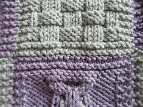 plaid boucle d 39 or assemblage des carr s tricot. Black Bedroom Furniture Sets. Home Design Ideas